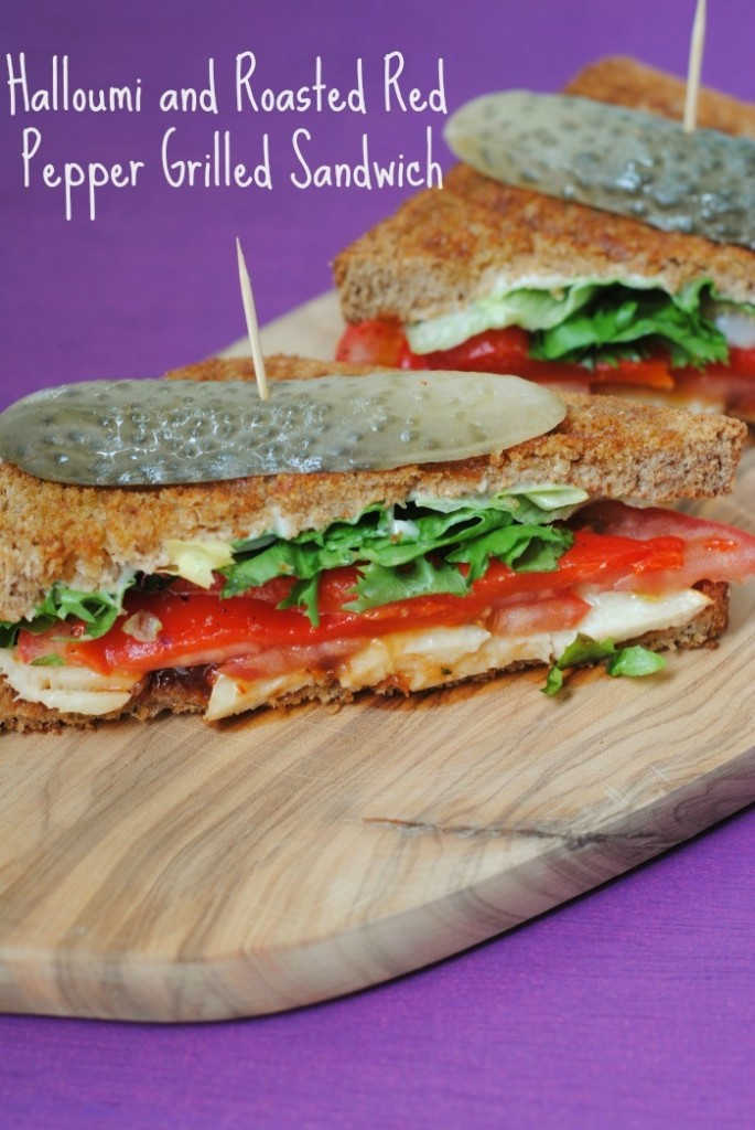 Halloumi and Roasted Red Pepper Grilled Sandwich 4