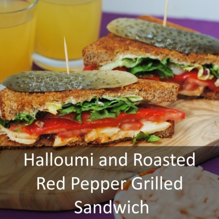 Halloumi and Roasted Red Pepper Grilled Sandwich Featured
