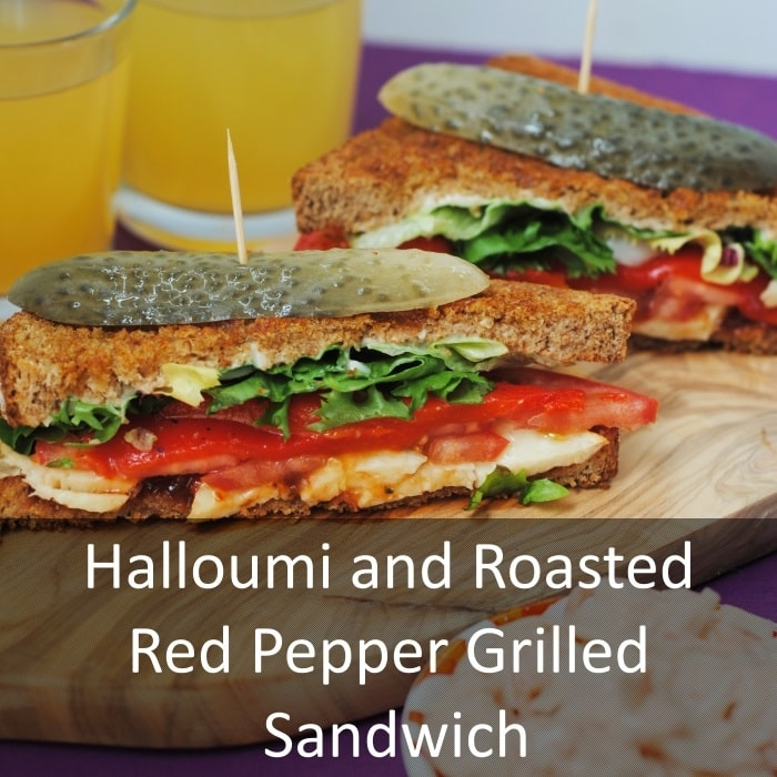 Halloumi and Roasted Red Pepper Grilled Sandwich - Hungry Healthy ...