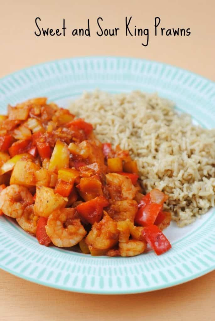 Sweet and Sour King Prawns 4