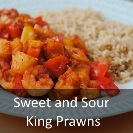 Sweet and Sour King Prawns Featured