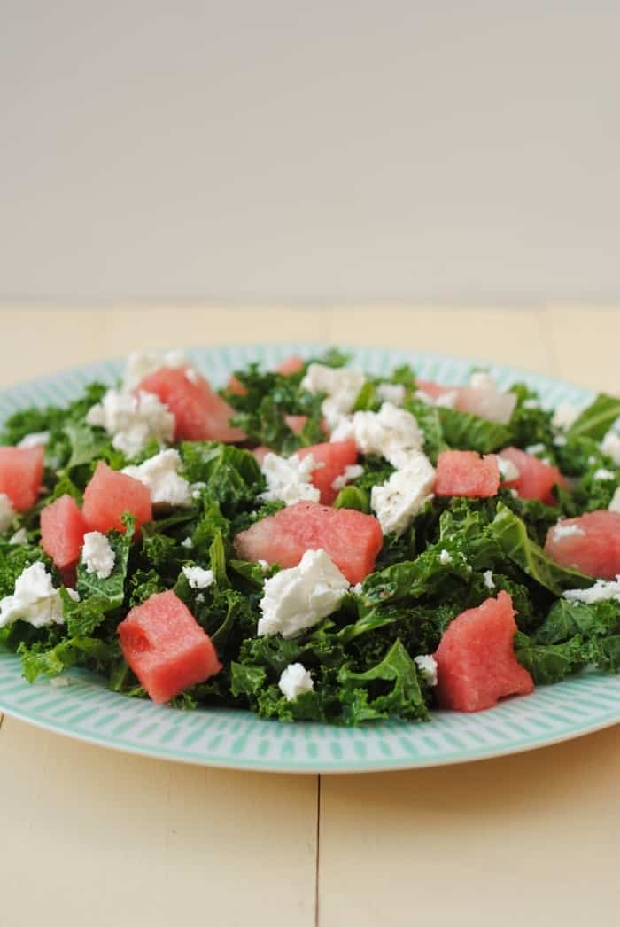 kale feta and watermelon salad hungry healthy happy. Black Bedroom Furniture Sets. Home Design Ideas
