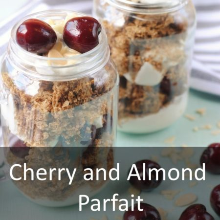 Cherry and Almond Parfait Featured
