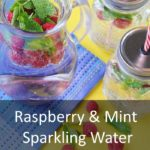Raspberry and Mint Sparkling Water