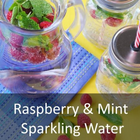 Raspberry and Mint Sparkling Water Featured