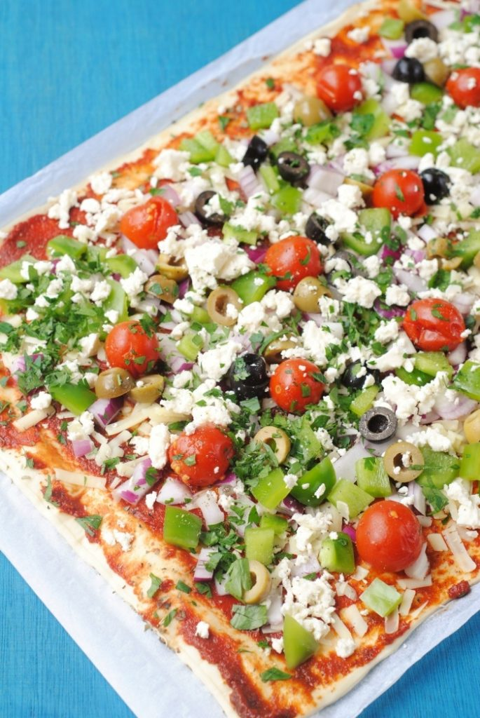 Greek Pizza 1
