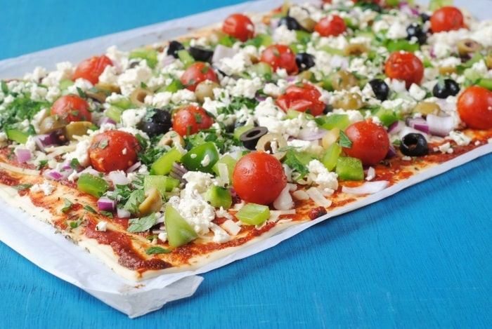 Greek Pizza 4