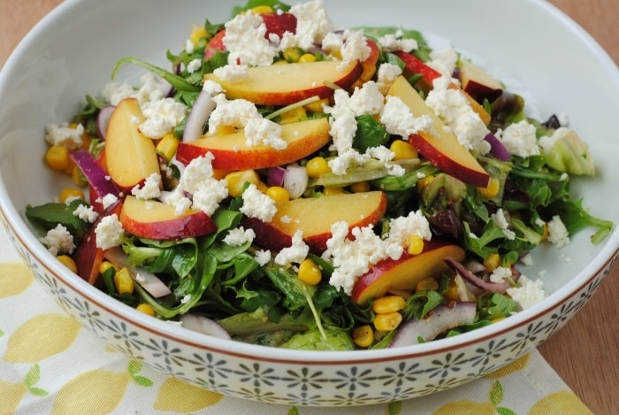 Grilled Peach, Corn and Feta Salad 2