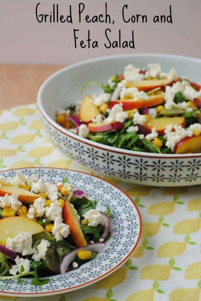 Grilled Peach, Corn and Feta Salad 3