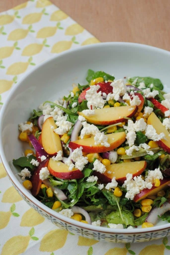 Grilled Peach, Corn and Feta Salad 4