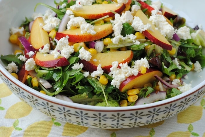 Grilled Peach, Corn and Feta Salad 5
