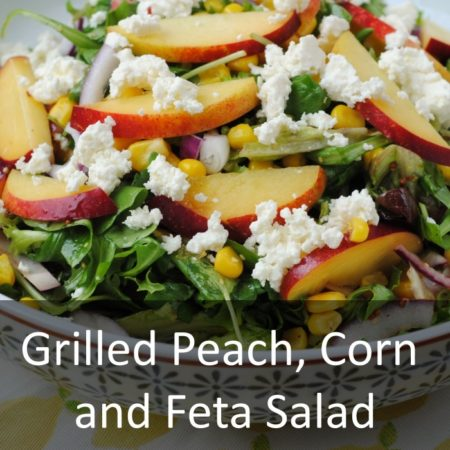 Grilled Peach, Corn and Feta Salad Featured