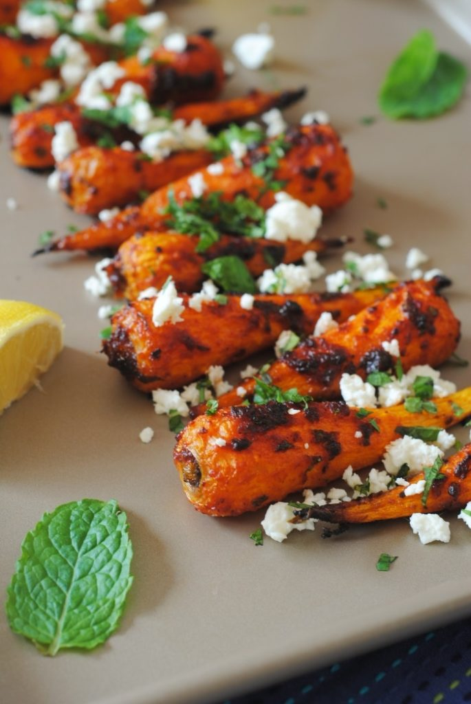Carrot Salad With Harissa, Feta And Mint Recipe — Dishmaps