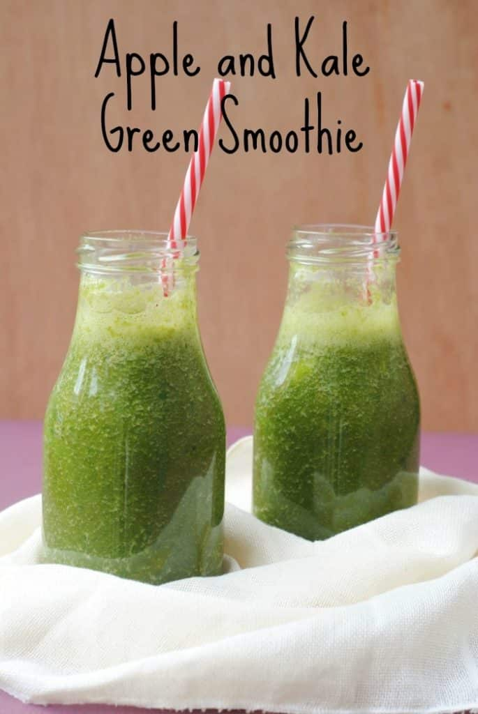 Apple and Kale Green Smoothie title