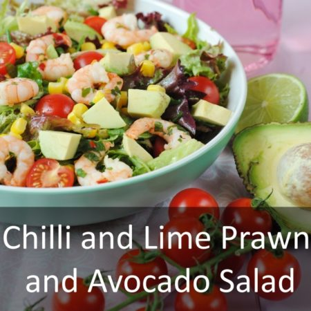 Chilli and Lime Prawn and Avocado Salad Featured