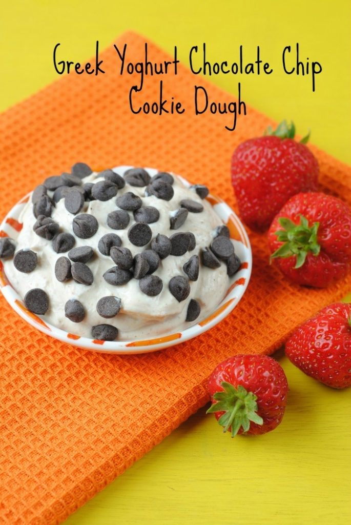 Greek Yoghurt Chocolate Chip Cookie Dough title