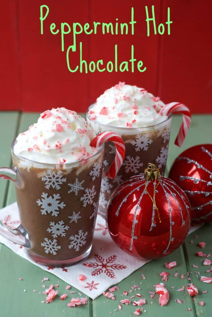 Healthy Peppermint Hot Chocolate title