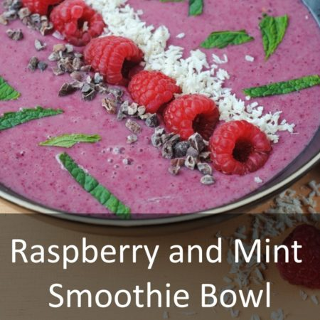 Raspberry and Mint Smoothie Bowl Featured