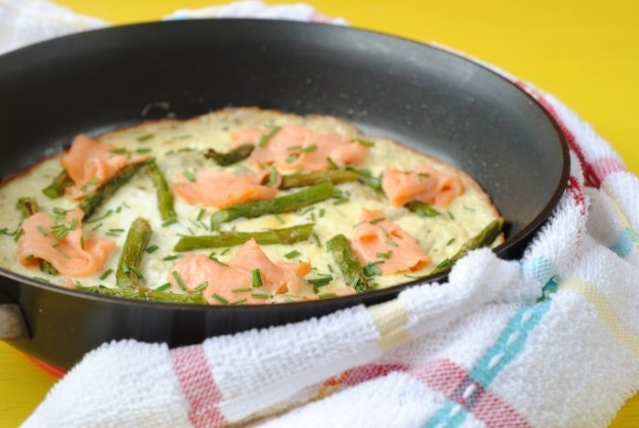 Smoked Salmon, Asparagus and Herb Omelette 5