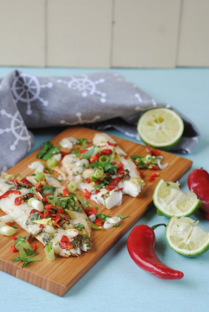 Garlic, Ginger and Chilli Sea Bass
