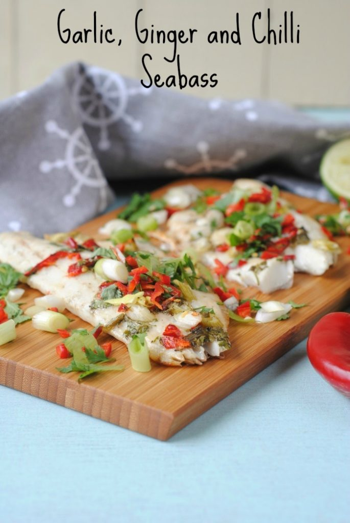 Garlic, Ginger and Chilli Sea Bass title
