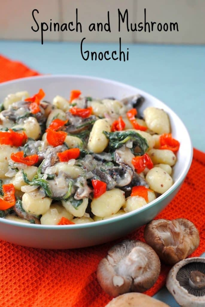 Mushroom and Spinach Gnocchi title