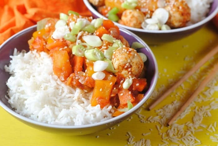 Sweet and Sour Chicken Meatballs