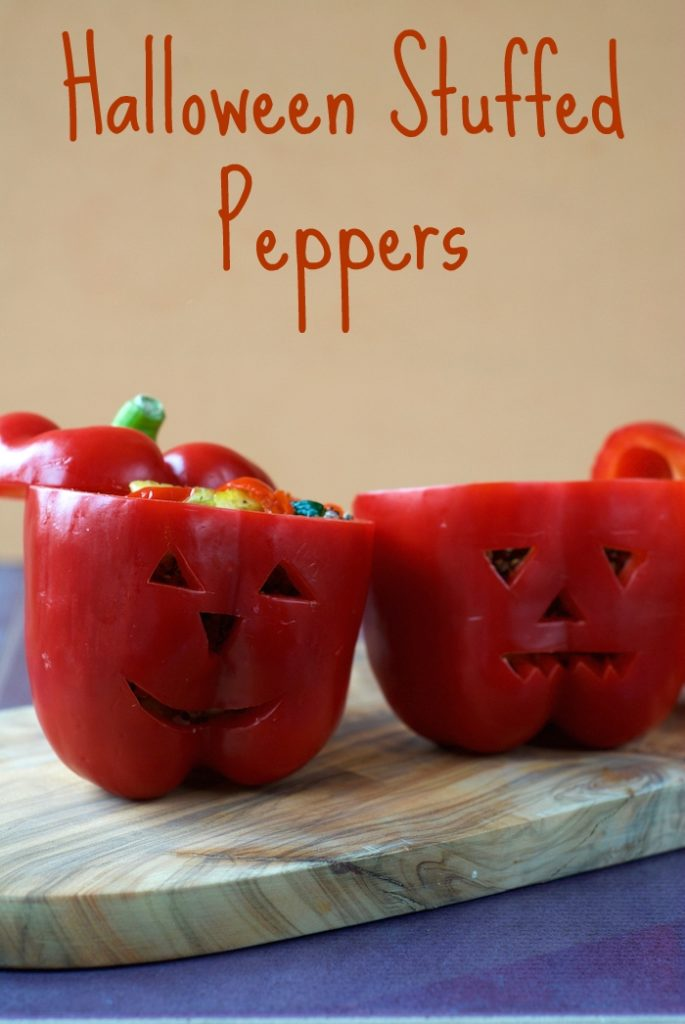 Halloween Stuffed Peppers title