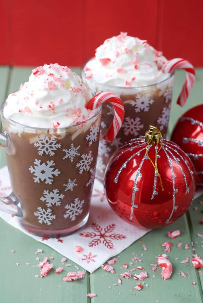 Healthy Peppermint Hot Chocolate