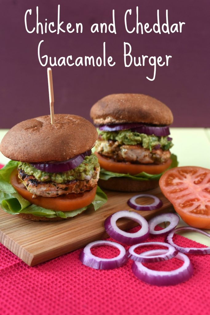 Chicken and Cheddar Guacamole Burgers title