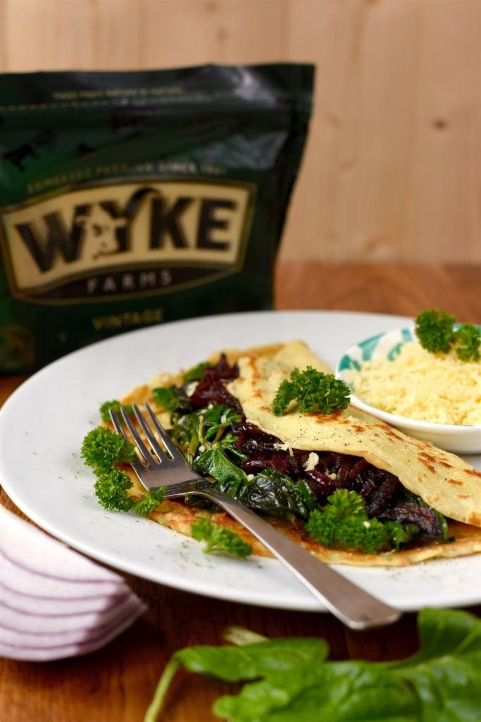 Caramelised Onion and Cheddar Savoury Pancakes