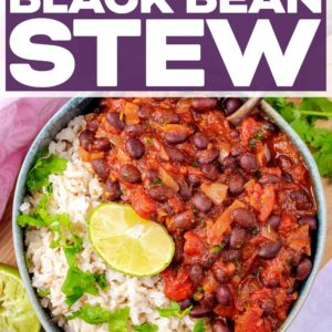 Chipotle black bean stew with a text title overlay.