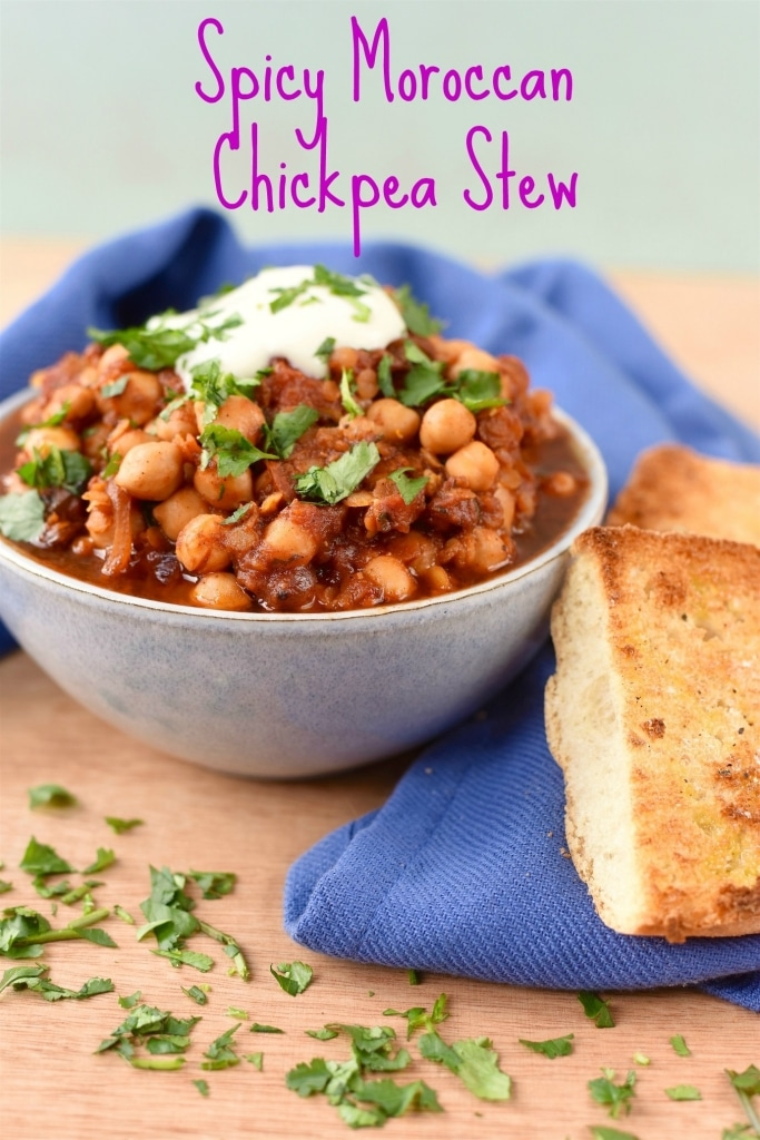 Spicy Moroccan Chickpea Stew title