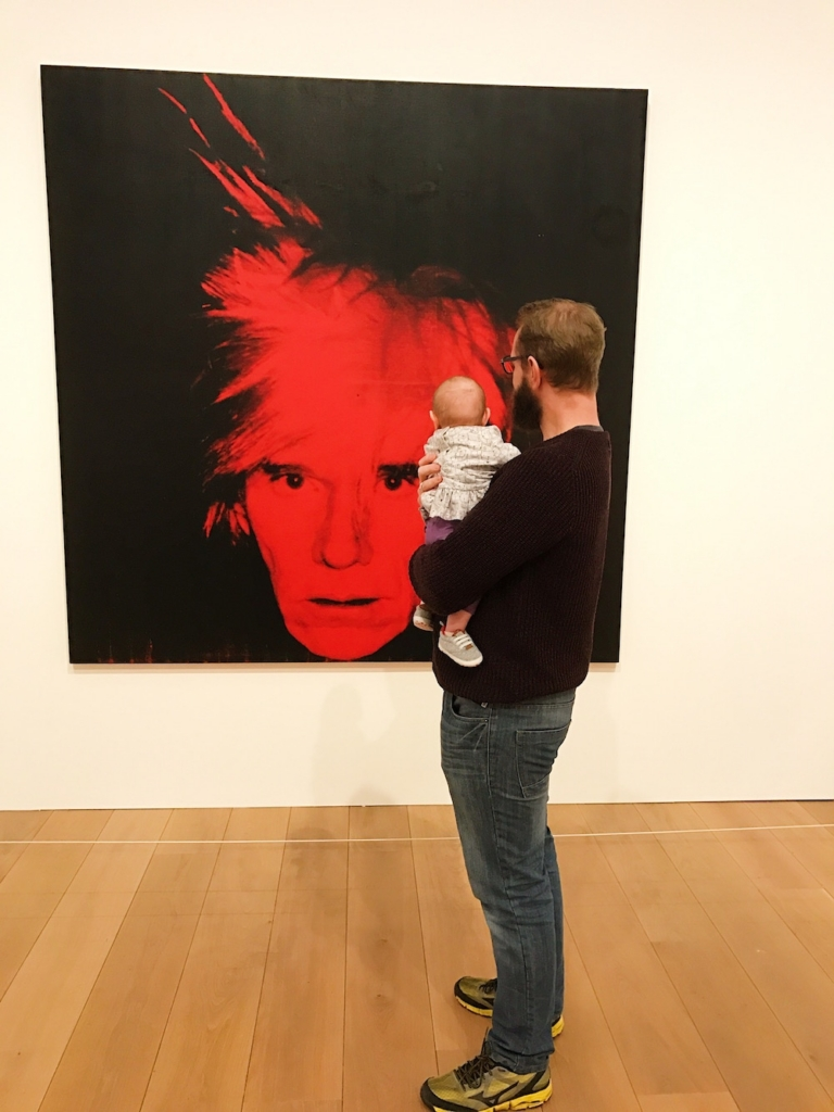 Avery and Andy Warhol art