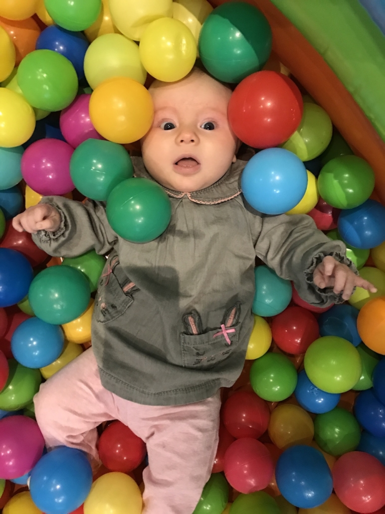 Avery in a ball pool