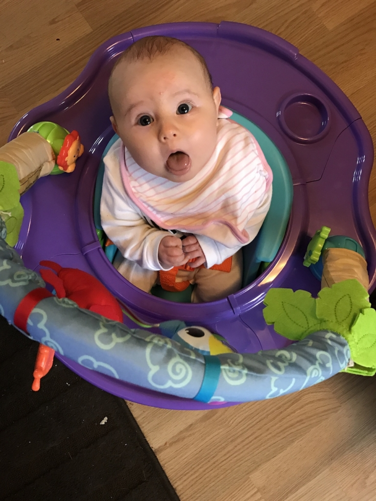Avery in play seat