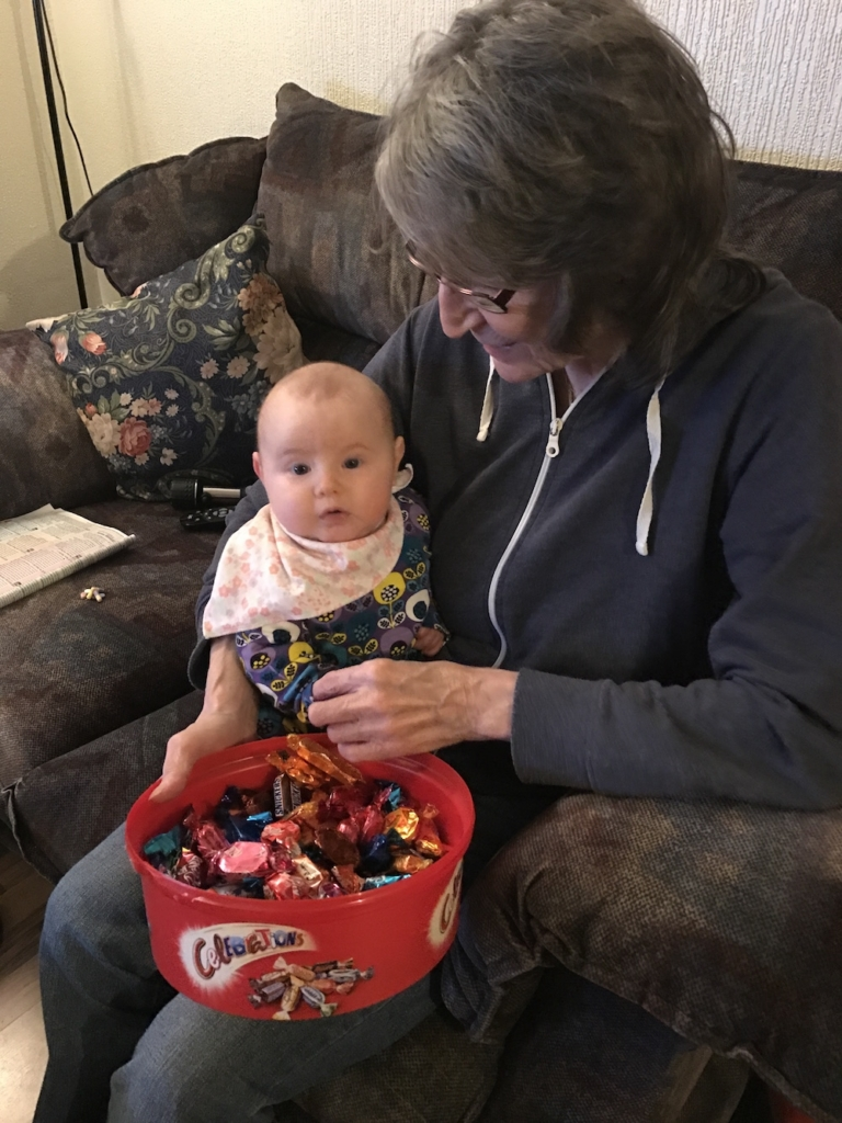 Avery, Nanny and chocolates