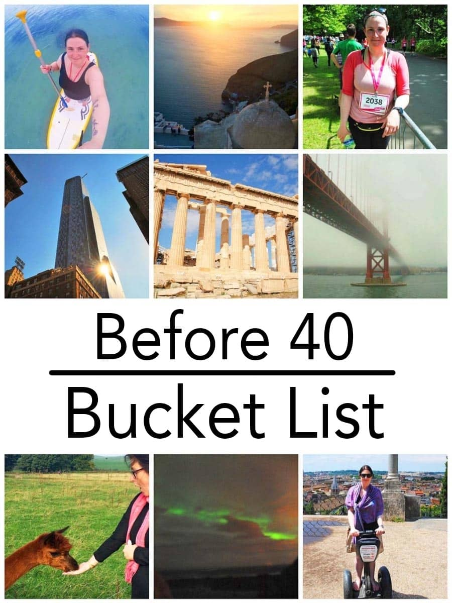 Travel, family, every day adventures, business and fitness goals all make up my before 40 bucket list.  Having goals gives me something to aim towards and makes choosing holiday destinations a little easier too. Here is a bucket list of all the things I want to do before I am 40 - they might give you some inspiration for your own list. #bucketlist #before40bucketlist #wishlist #40before40