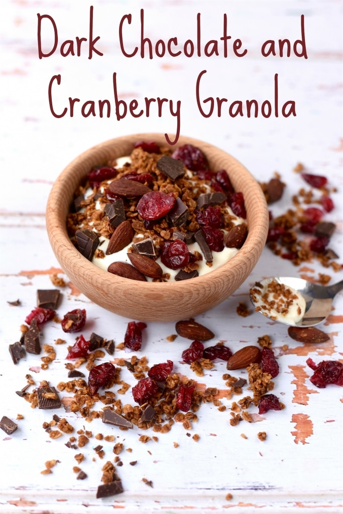Dark Chocolate and Cranberry Granola title
