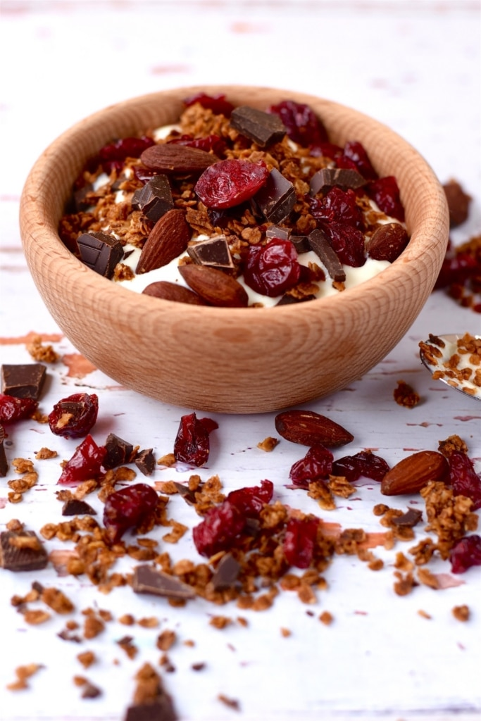 Dark Chocolate and Cranberry Granola