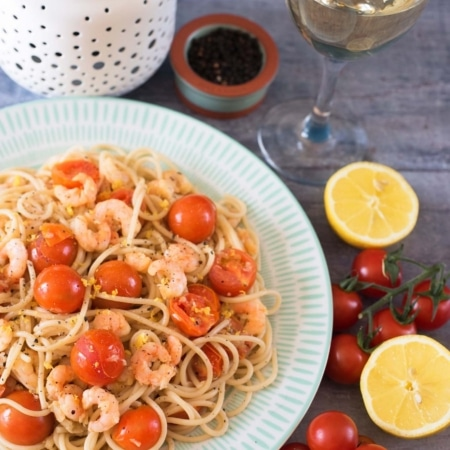Tomato, Garlic and Prawn Spaghetti