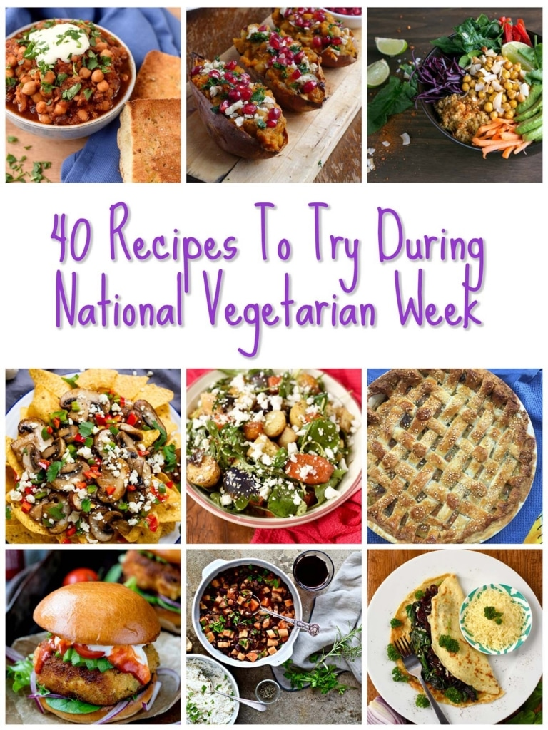 40 Recipes to try during National Vegetarian Week