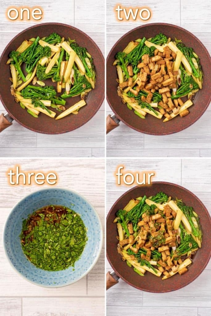 Step by step process to make Tofu Teriyaki Stir Fry