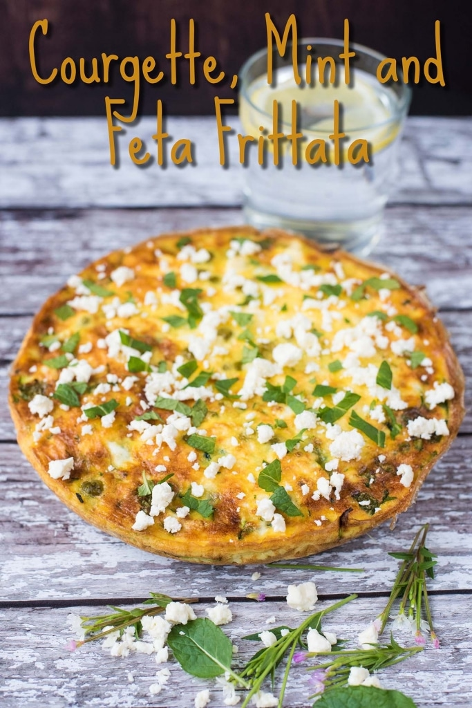 Courgette, Mint and Feta Frittata title pic