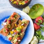 Grilled Alaska Salmon with Strawberry and Avocado Salsa