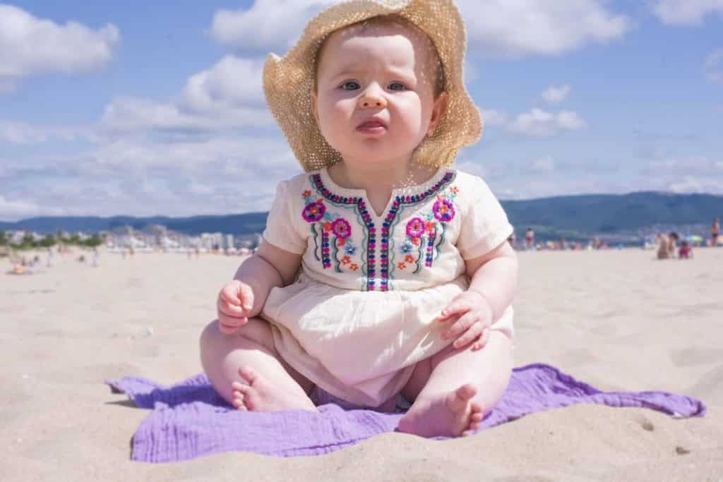 Avery at the beach