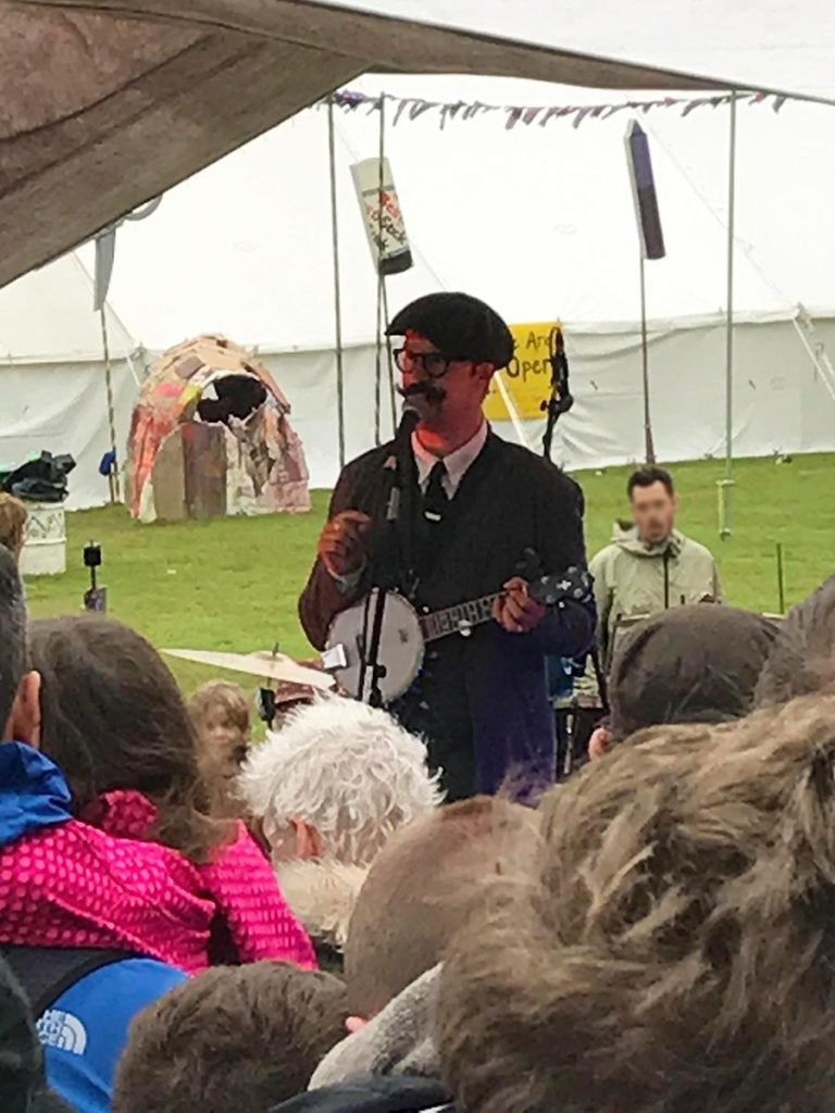 Mr B The Gentleman Rhymer performing at Camp Bestival