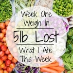 Week 1 Weigh In – 5lbs Lost & What I Ate