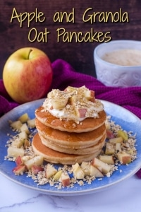 Apple and Granola Oat Pancakes