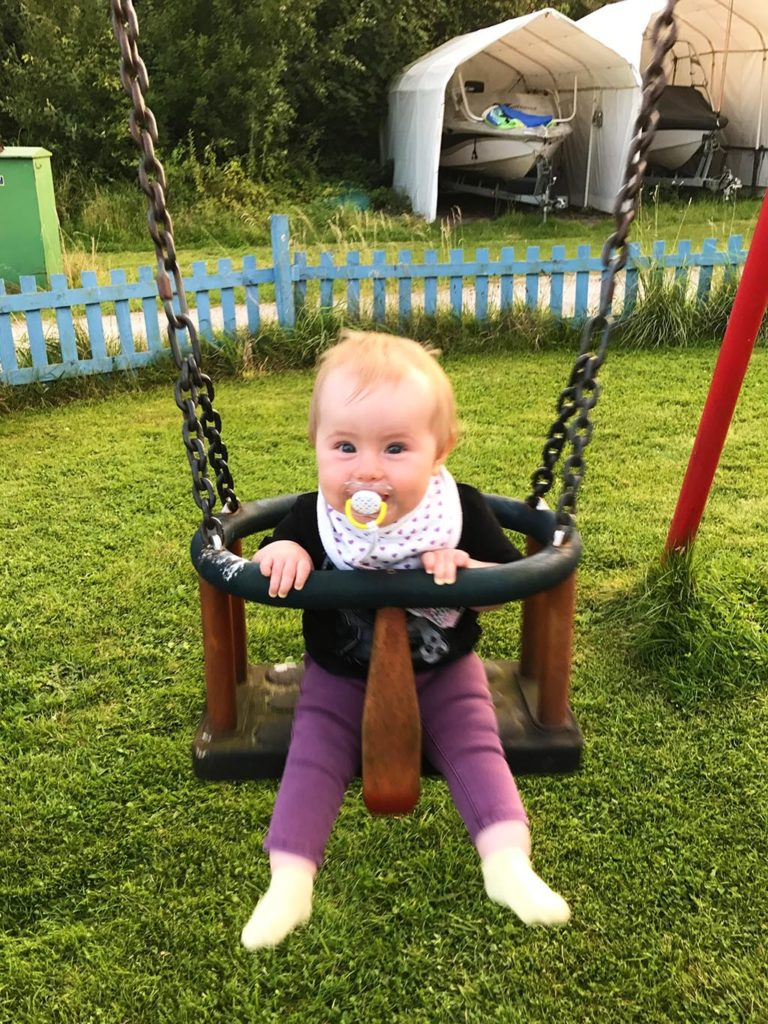 Avery on swing